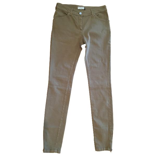 Balenciaga Khaki Cotton - Elasthane Jeans