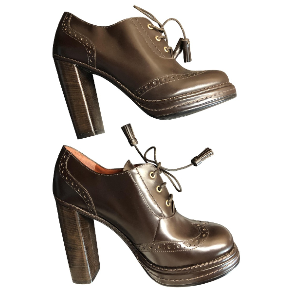 Marc By Marc Jacobs Brown Leather Heels
