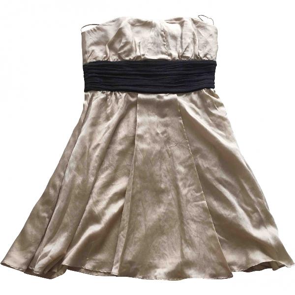 Jay Ahr Beige Silk Dress