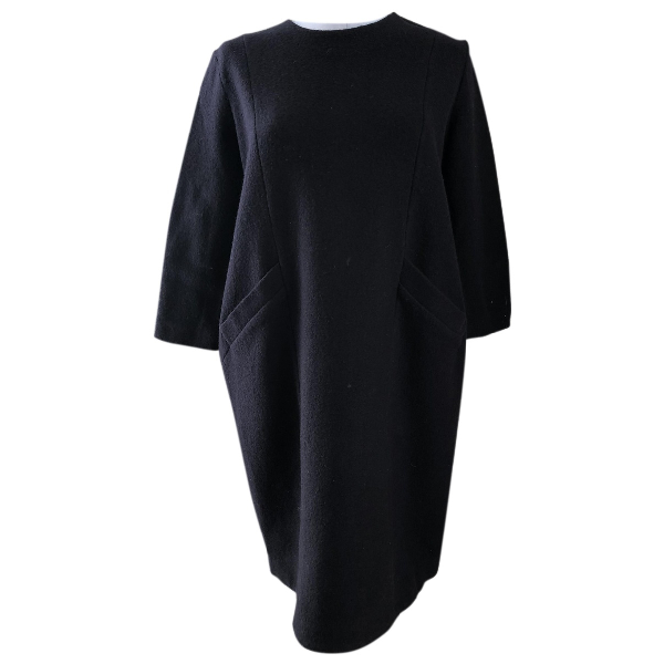 Cos Navy Wool Dress
