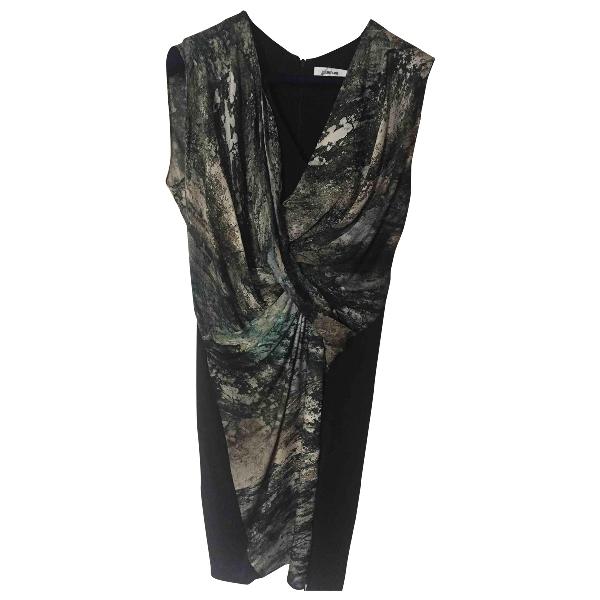 Helmut Lang Khaki Silk Dress