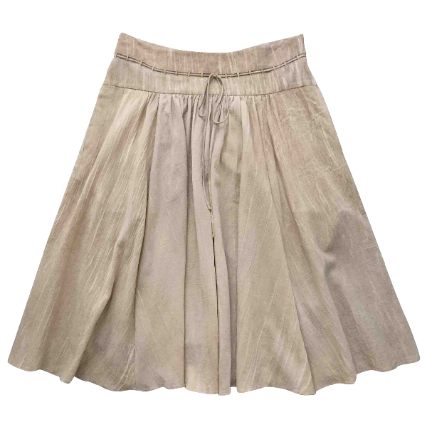 Theory Beige Cotton Skirt