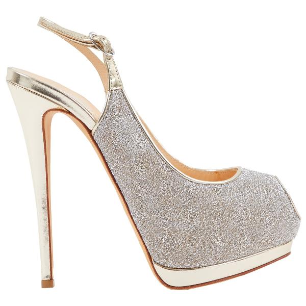Giuseppe Zanotti Silver Cloth Heels