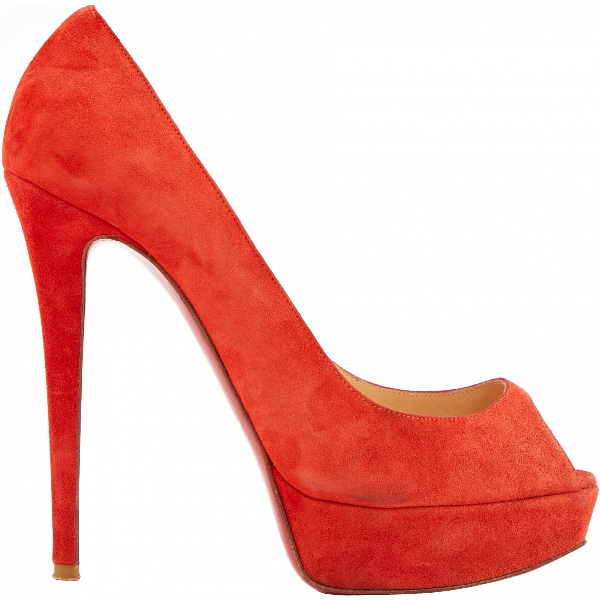 Christian Louboutin Very PrivÉ Red Suede Heels