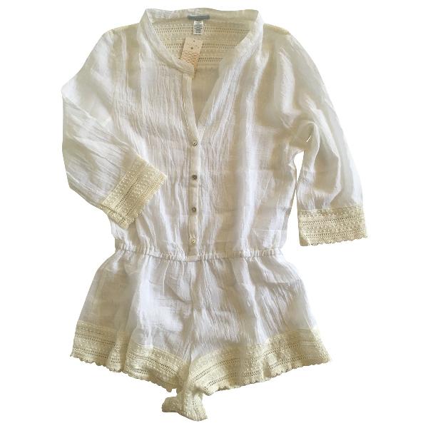 Eberjey White Cotton Shorts