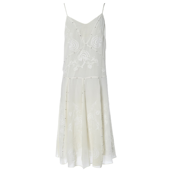 Paul & Joe White Silk Dress
