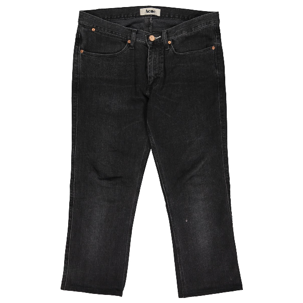 Acne Studios Black Cotton - Elasthane Jeans