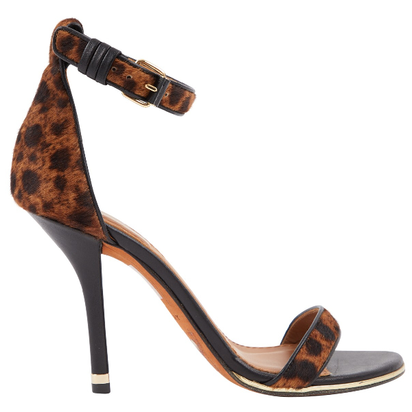 Givenchy Brown Pony-style Calfskin Sandals