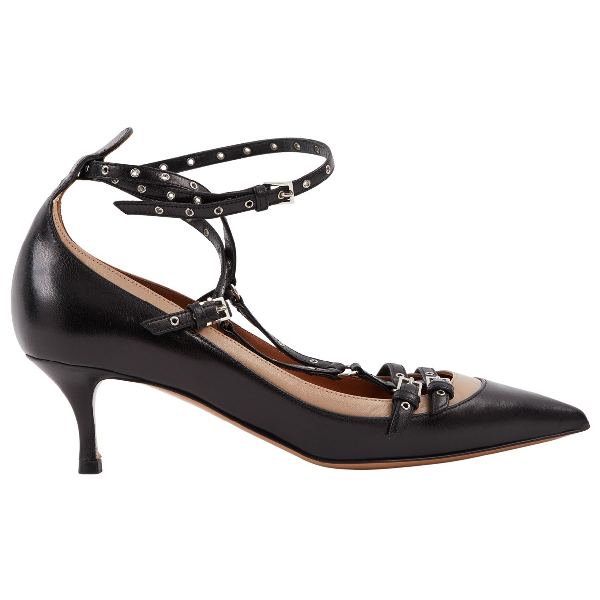 Valentino Garavani Black Leather Heels