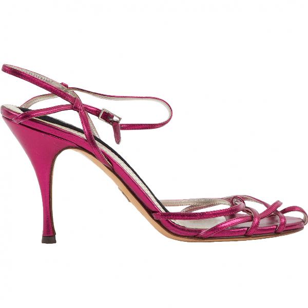 Dolce & Gabbana Purple Leather Heels