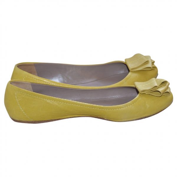 Etro Yellow Leather Ballet Flats