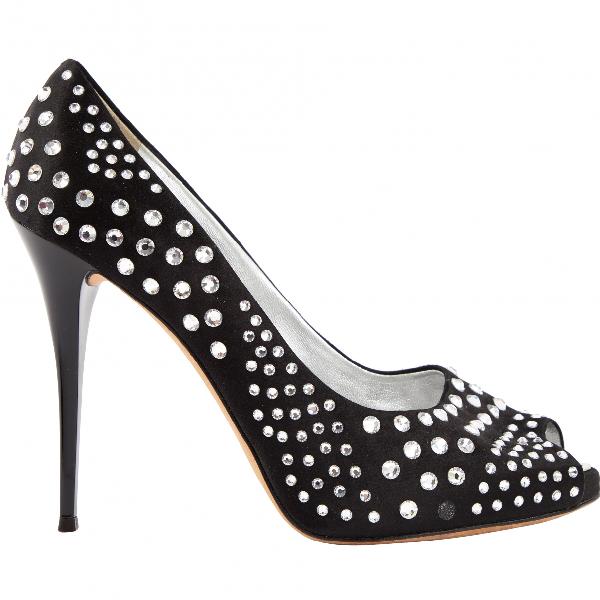 Giuseppe Zanotti Black Cloth Heels