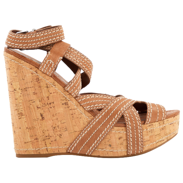 Miu Miu Brown Leather Sandals