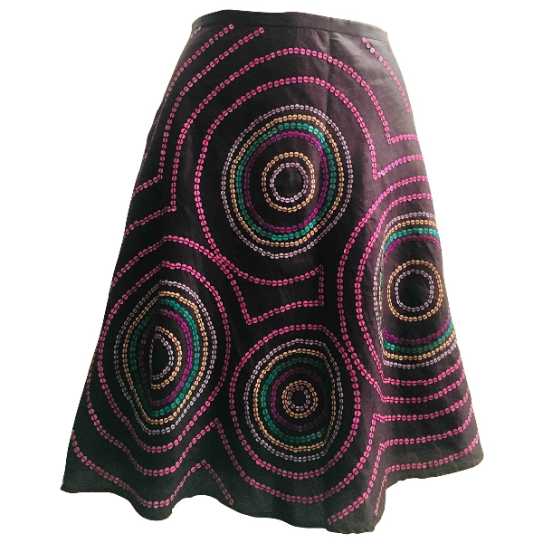 French Connection Anthracite Cotton Skirt