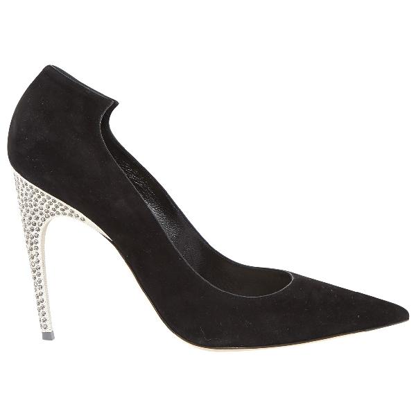 Dior Black Suede Heels