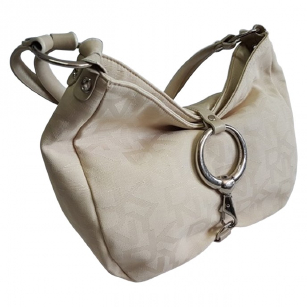 Dkny Beige Cloth Handbag