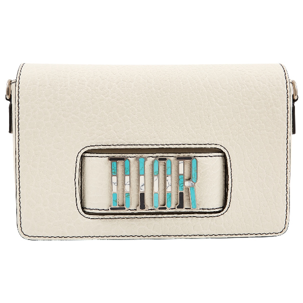 Dior Dio(r)evolution White Leather Handbag