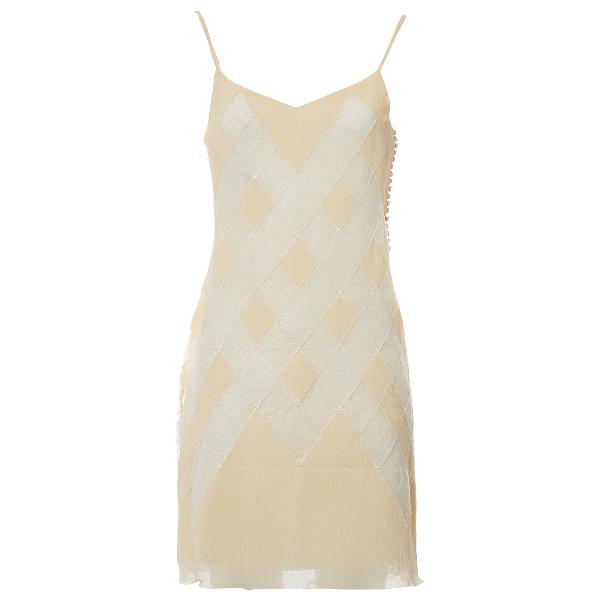 Dior Ecru Silk Dress