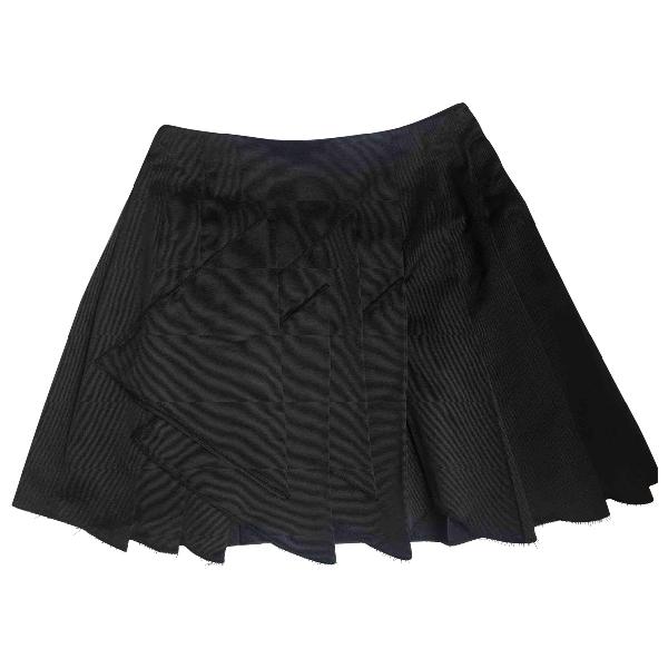 Miu Miu Navy Silk Skirt
