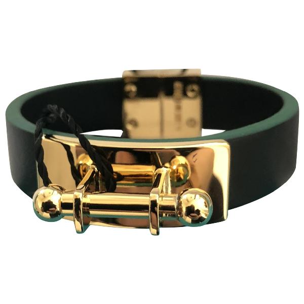 Vionnet Green Leather Bracelet
