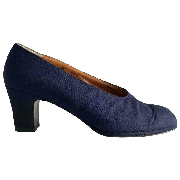 Robert Clergerie Blue Cloth Heels