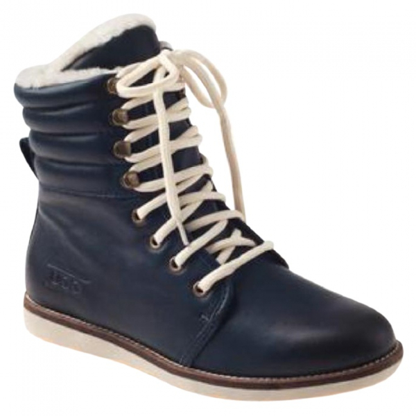 Ugg Blue Leather Ankle Boots