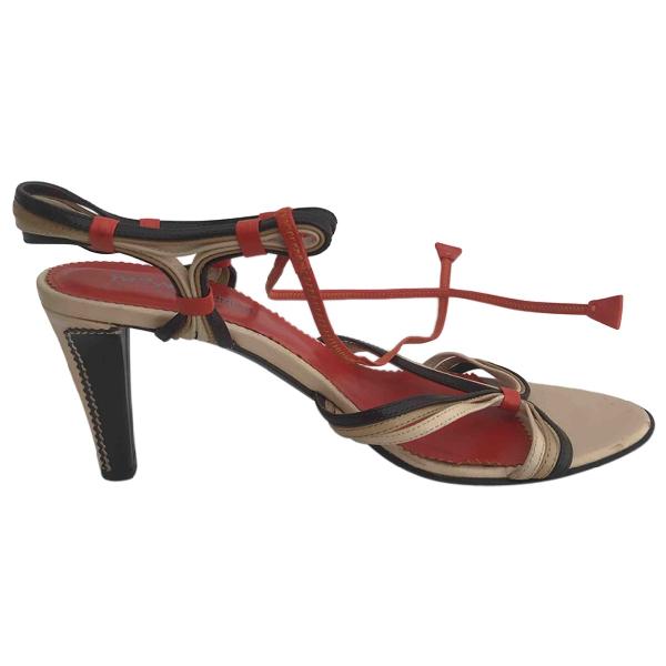 Saint Laurent Multicolour Leather Sandals