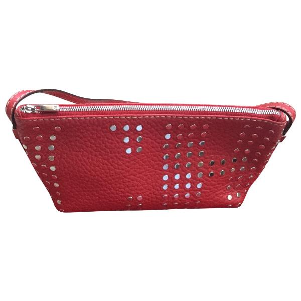 Carolina Herrera Red Leather Handbag