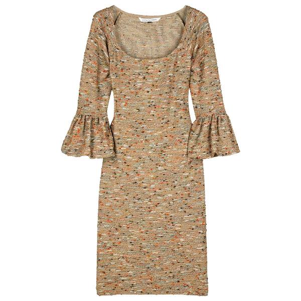 Diane Von Furstenberg Metallic Cotton - Elasthane Dress