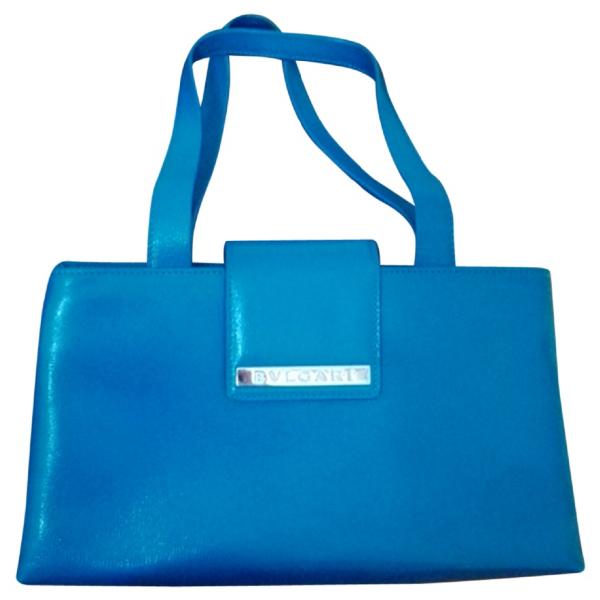 Bulgari Turquoise Leather Handbag