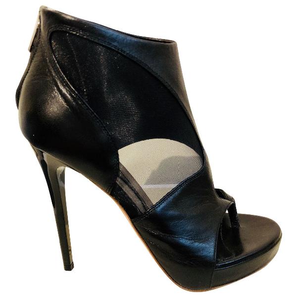 Mcq By Alexander Mcqueen Black Leather Heels