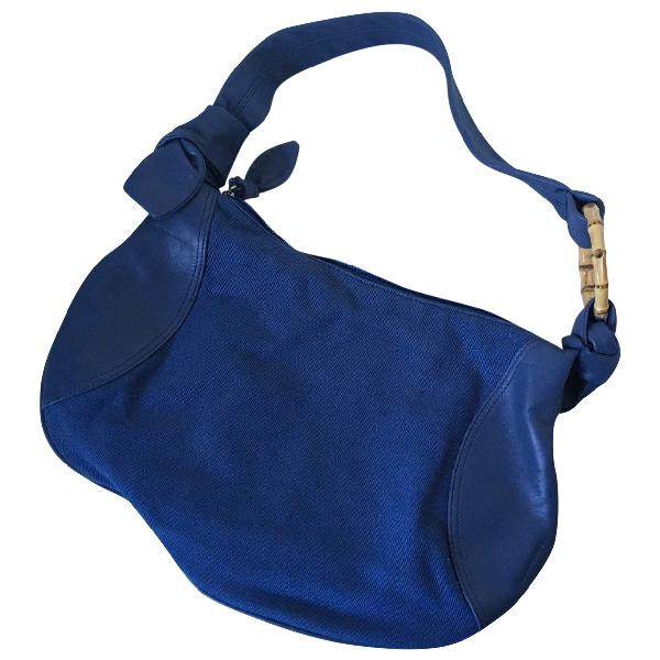 Lancel Blue Leather Handbag