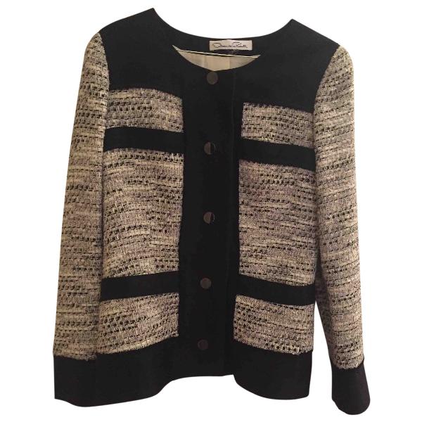 Oscar De La Renta Black Tweed Jacket