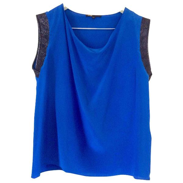 Maje Blue Silk  Top