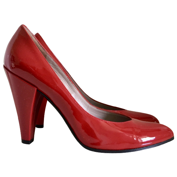 Marc By Marc Jacobs Red Patent Leather Heels