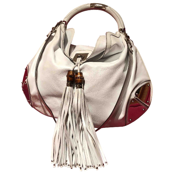 Gucci Indy White Leather Handbag
