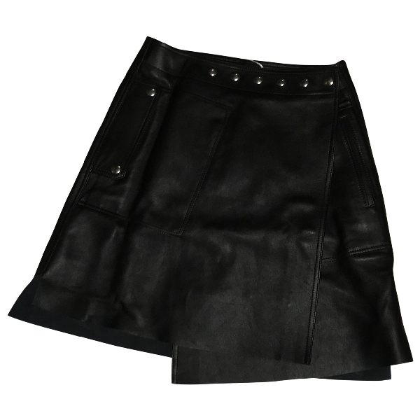 Acne Studios Black Leather Skirt