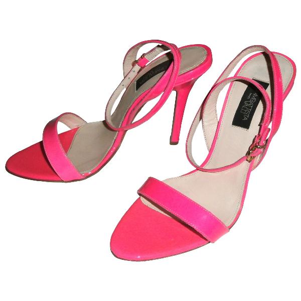 Giambattista Valli Pink Patent Leather Sandals