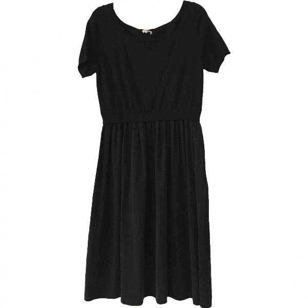 Parosh Black Silk Dress
