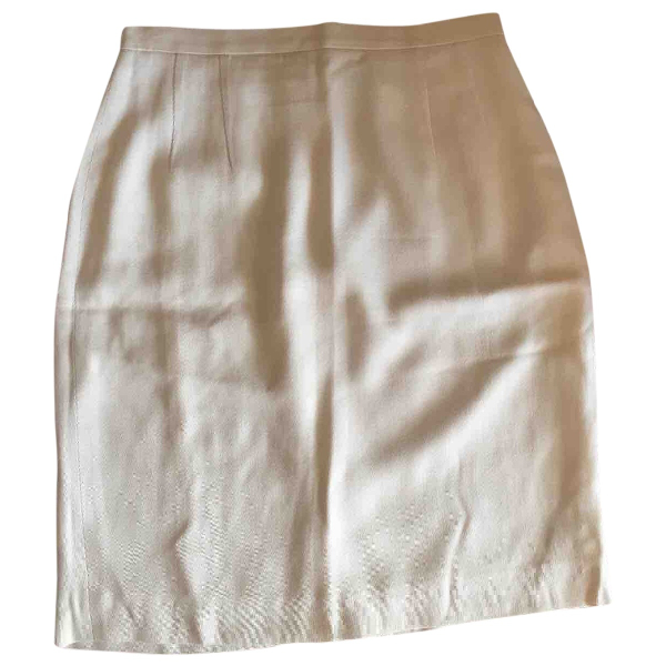 Fendi White Skirt