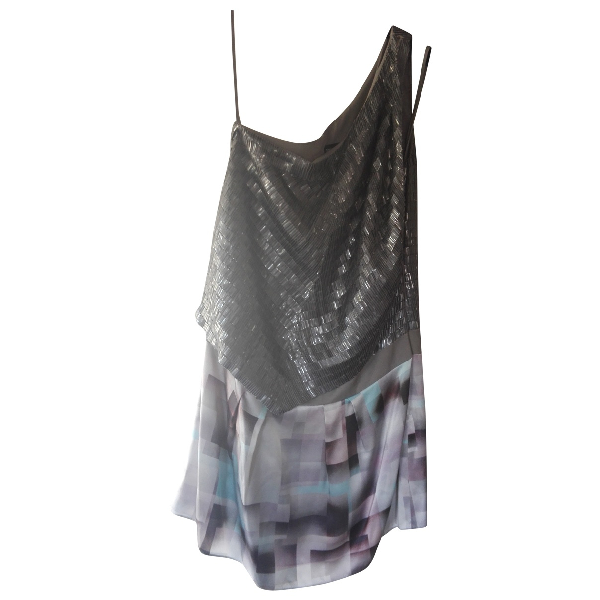 Emporio Armani Grey Silk Dress