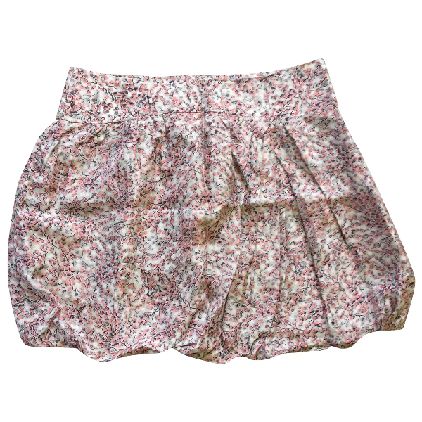Comptoir Des Cotonniers Pink Silk Skirt