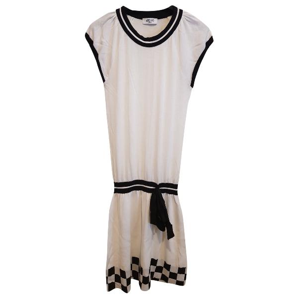 Moschino Cheap And Chic White Cotton Dress