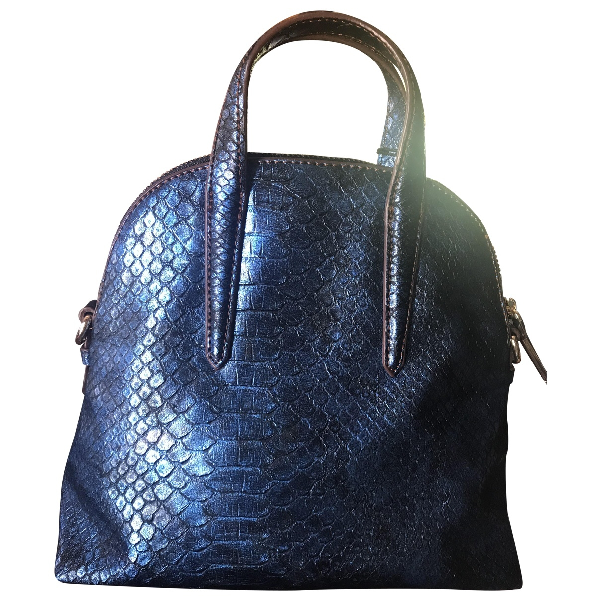 Trussardi Blue Leather Handbag