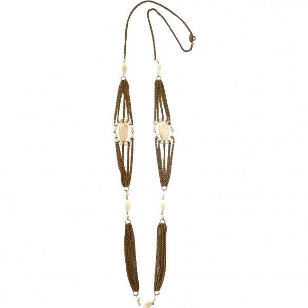 Isabel Marant Ecru Metal Long Necklace