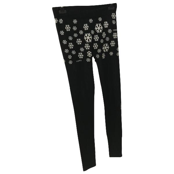 Fendi Black Wool Trousers