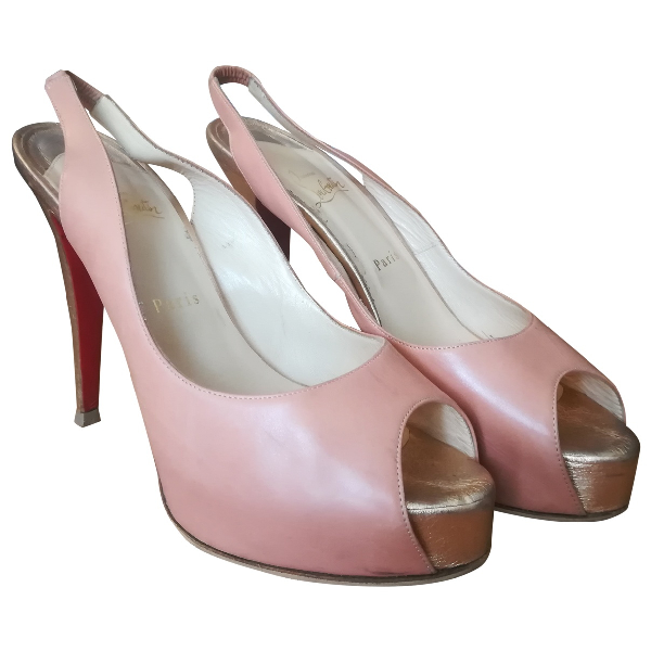 Christian Louboutin Private Number Pink Leather Heels