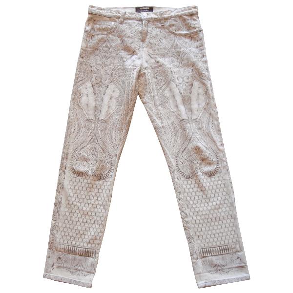 Roberto Cavalli Ecru Cotton Jeans