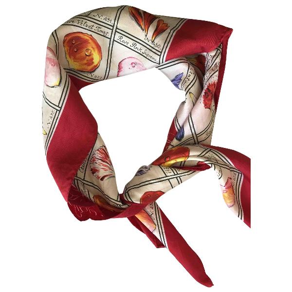 Karl Lagerfeld Red Silk Silk Handkerchief