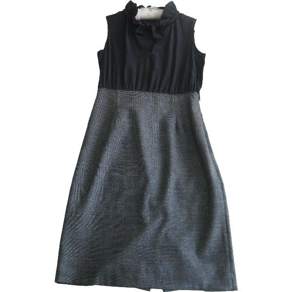 Moschino Cheap And Chic Grey Wool Dress
